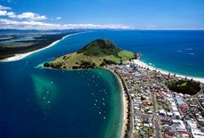 Aerial view of The Mount and Matakana Island - ©